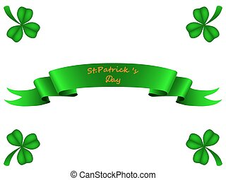 Tape greeting card St Patrick