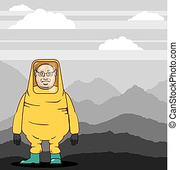 Protective Suit Illustration landscape