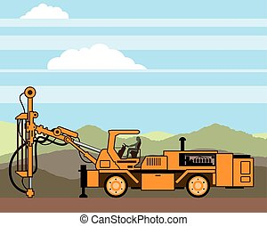 Drilling Rig Tractor Vehicle Machinery