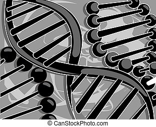DNA model - Illustration of DNA model  background