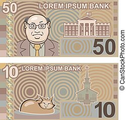 Fake money 50 and 10