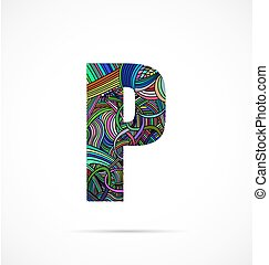 "Letter ""P"" from doodle alphabet"