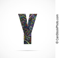"""Letter """"Y"""" from doodle alphabet"""