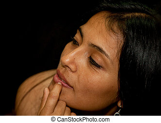 A attractive Latin Woman in south america
