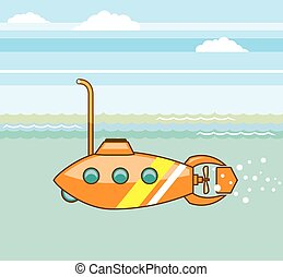 cartoon submarine