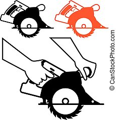 Circular Saw single color icon