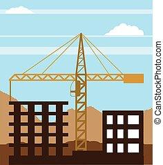 Tall building Crane sky