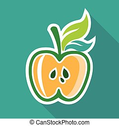 Half apple Core Isolated Design