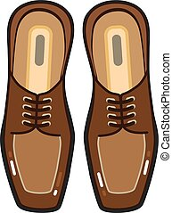 Leather Man's shoes