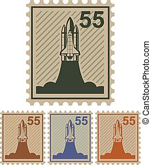 Shuttle 55 mail stamp  - Shuttle 55 mail stamp