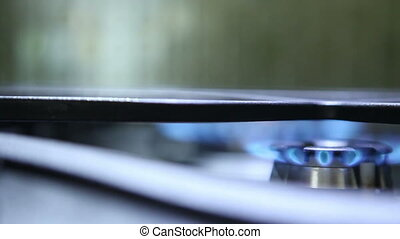 burning hot plates focus transfer from one to another HD
