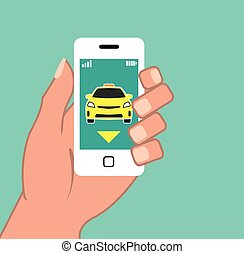 Call a Cab on Smart Phone