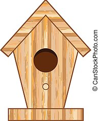 Wood Birdhouse Vector