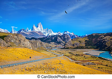 The road to snow-white rocks Fitz Roy - The road to the...