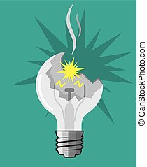 Broken light bulb  illustration