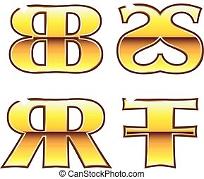 BB SS RR FF Gold Labels