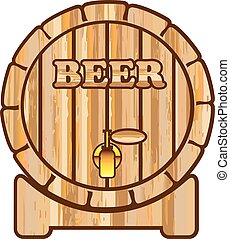Beer barrel vector isolated