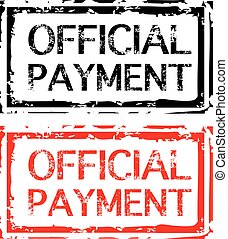 Official Payment Grunge Stamp