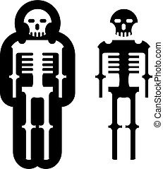 Simplistic skeleton Icon Vector eps