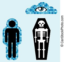 Aura Soul Human death Afterlife Vector