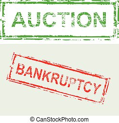 Auction Bankruptcy Stamp