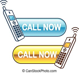 Call now button Web with house phone Glossy