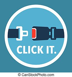 Click it Period Seat belt sign