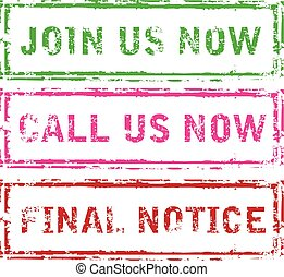 Join us now Call us now Final Notice