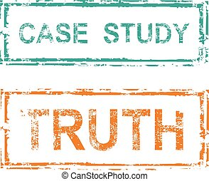 Case Study Stamp Truth Stamp Vector
