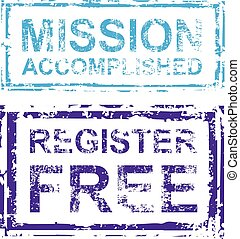 Mission Accomplished Register Free Stamp