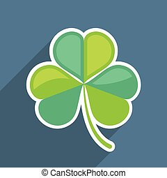 Shamrock duotone Vector Icon