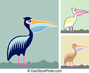 Pelican Illustration Colors