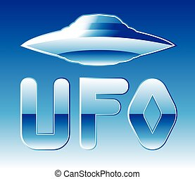 UFO in the sky with abbreviation