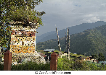 Bhutan, Mongar, 2840 - Bhutan, chorten in Mongar