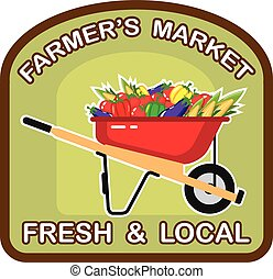 Farmers Market Sign Fresh and Local