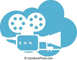 Old film camera Cloud Icon