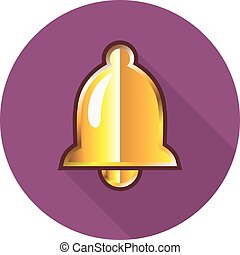 Golden Notification Bell Icon