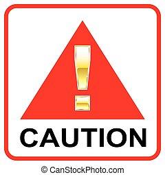 VARNING, röd, sign, ,
