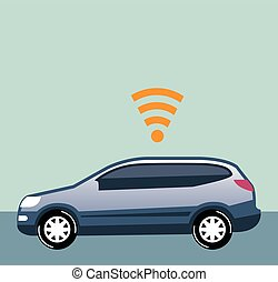 Car Wifi Vector