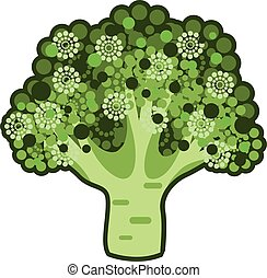 Broccoli Vector Icon