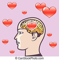 Love Hearts in the Mind vector
