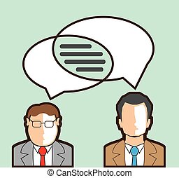 Same Thoughts Vector illustration men talking business