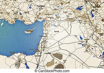 Syria Retro Map