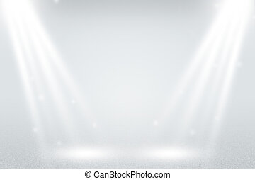Infinite White Spotlight Background