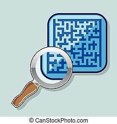 Maze under Magnifying Glass
