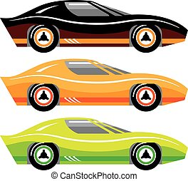 Vintage Sports car Simple basic Vector