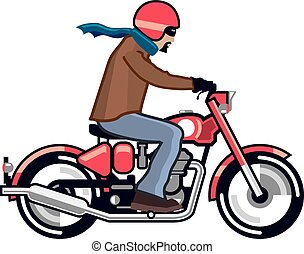 Dude on Motorcycle