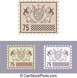 Mail Stamp with Vintage Royal Logo