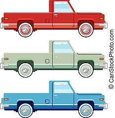 Stylized Vector Old Pickup Truck