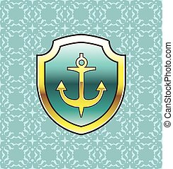 Anchor on the Shield  Design